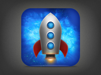 Rocket Text iPhone Icon