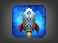 Rocket Text iPhone Icon, Final