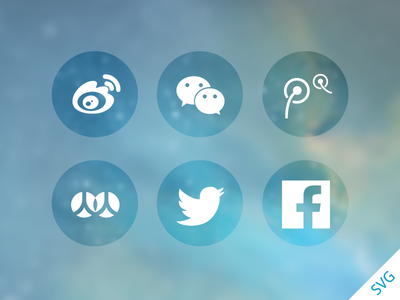 Download SNS Sharing Icons SVG