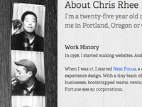 Chris Rhee - About