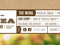 Pizza Website Navigation