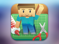 Minecraft Papercraft Icon