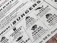 Bar Burger Menu