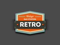 Retro Gas Station Badge