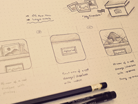 iOS App icons sketches