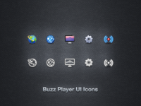 Buzz Player UI Icons