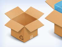 Box & DropBox icons PSD