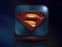 Superman - (Man Of Steel) iOS app icon