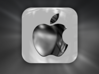 Metallic Apple iOS App Icon