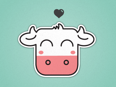 Happi_cow_dribbble