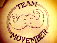 Team Movember Mustache Monster Sketch