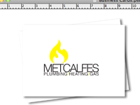 Metcalfes Corporate Branding (Front Business Cards)