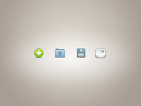Toolbar icons sample