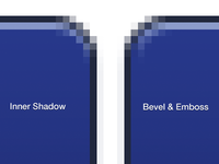 Pro Tip 5: Inner Shadow Instead of Bevel and Emboss
