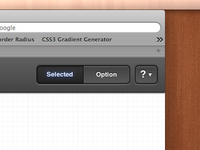 CSS3 beveled button and segmented control