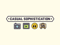Casual Sophistication Header and Icons