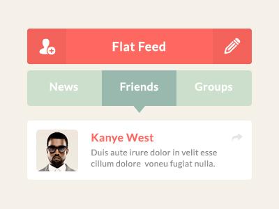 Flat Feed UI