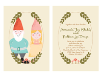 Gnomes Wedding Invite