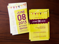 Etsy Denton Save the Date