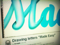 "Drawing letters ""Made Easy"" process video"