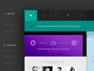 Download Free PSD – UI Kit Web App Header