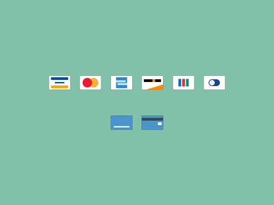 Credit Card Icons + PSD