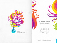 Brand Your Genius logo design + business card