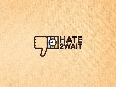 Hate2wait_logo_design