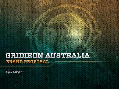 Gridiron Australia Brand Proposal Cover