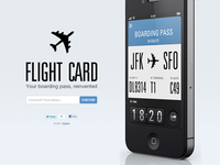 Flight card teaser website