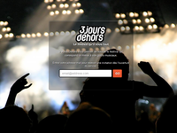 Landing Page for a music festivals website