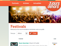 Music festivals recommandations
