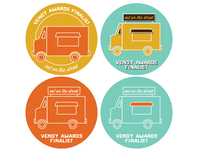 Vendy Awards Finalist Stickers