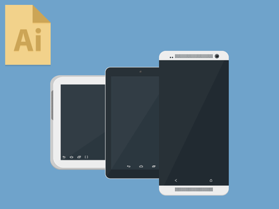 Download Android Devices Mockup Illustrator File