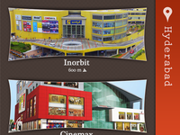 Welcome screen: Shopping mall application