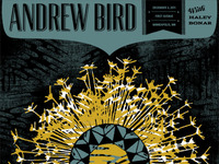 Andrew Bird Gigposter 12/3 Minneapolis, MN