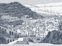 Hand Drawn Illustration of Tuscany