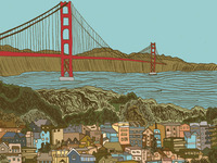 Finished illustration of San Francisco