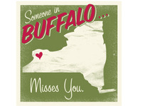 Buffalo Greeting Card #2