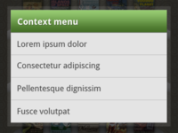 Android Context Menu