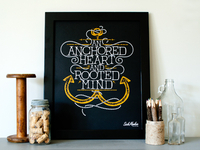An Anchored Heart (Screen Print)