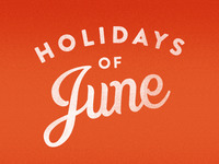 Holidays of June