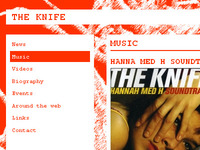 The Knife website