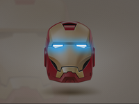 Iron Man - Glowing Eyes (CSS3)