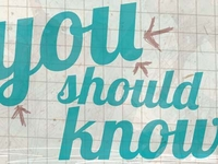 """Someone You Should Know"" masthead redesign"