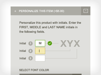 Personalize Dropdown