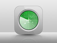 Mobile Radar App Icon Rebound