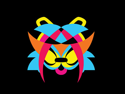Psychedelic-tiger-color-on-black