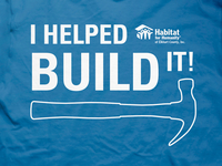 I Helped Build It T-shirt