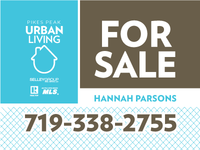 Pikes Peak Urban Living For Sale sign